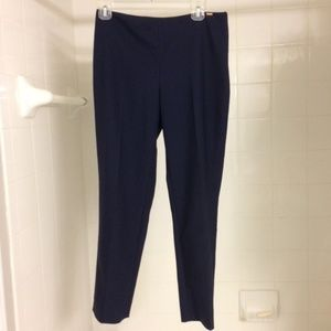 St. John Cropped Slim Navy Ankle Pants US 4